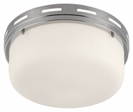 Feiss FM386PN Manning Polished Nickel Finish 5.375  Tall Flush Mount Lighting Fixture
