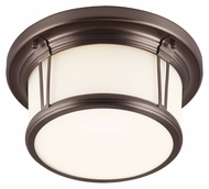 Feiss FM387CLT Woodward Chocolate Finish 11.25  Wide Home Ceiling Lighting