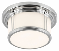 Feiss FM387PN Woodward Polished Nickel Finish 5.375  Tall Overhead Light Fixture