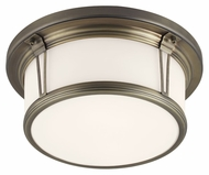 Feiss FM388SBZ Woodward Satin Bronze Finish 13.25  Wide Ceiling Lighting Fixture