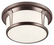 Feiss FM389CLT Woodward Chocolate Finish 16.5  Wide Flush Lighting