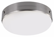 Feiss FM390BS Cadence Brushed Steel Finish 4.625  Tall Flush Mount Light Fixture