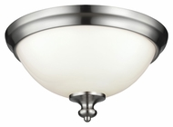 Feiss FM397BS Parkman Brushed Steel Finish 6.75  Tall Ceiling Light