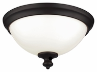 Feiss FM397ORB Parkman Oil Rubbed Bronze Finish 13  Wide Ceiling Light Fixture