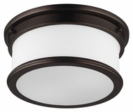 Feiss FM399DPZ Payne Dark Plated Bronze Finish 12.5  Wide Flush Mount Lighting