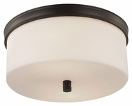 Feiss FM401ORB Lismore Oil Rubbed Bronze Finish 6.625  Tall Flush Mount Lighting Fixture