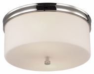 Feiss FM401PN Lismore Polished Nickel Finish 13.125  Wide Flush Ceiling Light Fixture