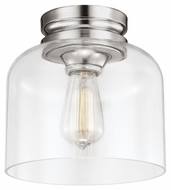 Feiss FM404PN Hounslow Retro Polished Nickel Finish 9  Wide Ceiling Lighting Fixture