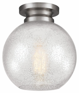 Feiss FM407BS Tabby Contemporary Brushed Steel Finish 8.5  Wide Flush Lighting