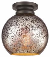 Feiss FM407ORB Tabby Modern Oil Rubbed Bronze Finish 9.25  Tall Flush Mount Lighting