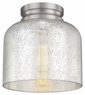 Feiss FM408BS Hounslow Modern Brushed Steel Finish 8.875  Tall Flush Mount Light Fixture