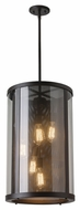 Feiss OL12014ORB Bluffton Oil Rubbed Bronze Finish 24.75  Tall Exterior Ceiling Light Pendant