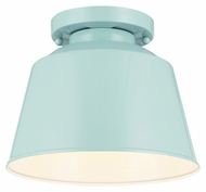 Feiss OL15013SHBL Freemont Modern Hi Gloss Blue Finish 9  Wide Outdoor Flush Lighting