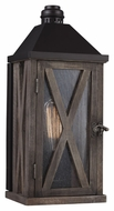 Feiss OL17000DWO-ORB Lumiere' Rustic Dark Weathered Oak / Oil Rubbed Bronze Finish 6.5  Wide Outdoor Wall Sconce