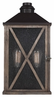 Feiss OL17004DWO-ORB Lumiere' Rustic Dark Weathered Oak / Oil Rubbed Bronze Finish 11  Wide Outdoor Wall Lighting