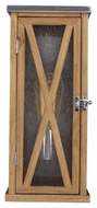 Feiss OL17005NO Lumiere' Country Natural Oak / Brushed Aluminum Finish 15 Tall Exterior Lighting Sconce