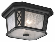 Feiss OL9513TXB Wembley Park Traditional Textured Black Finish 12 Wide Outdoor Overhead Light Fixture