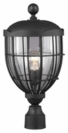 Feiss OL9808TXB River North Traditional Textured Black Finish 22.625  Tall Exterior Lamp Post Light