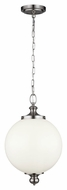 Feiss P1295BS Parkman Brushed Steel Finish 12  Wide Drop Ceiling Lighting