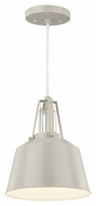 Feiss P1305HGG Freemont Modern Hi Gloss Grey Finish 9  Wide Mini Hanging Light