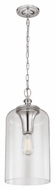 Feiss P1309PN Hounslow Vintage Polished Nickel Finish 9  Wide Mini Pendant Light