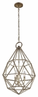 Feiss P1312BUS Marquise Modern Burnished Silver Finish 28.125  Tall Pendant Light Fixture