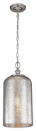 Feiss P1319PN Hounslow Vintage Polished Nickel Finish 19.875  Tall Mini Pendant Light Fixture