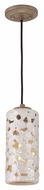 Feiss P1323WTPC-BD Azalia Contemporary White Taupe Ceramic / Beach Wood Finish 11.375  Tall Mini Pendant Hanging Light