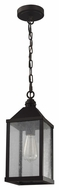 Feiss P1328ORB Lumiere' Traditional Oil Rubbed Bronze Finish 15.5  Tall Mini Drop Ceiling Light Fixture