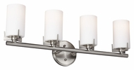 Feiss VS39004-BS Kenton Brushed Steel Finish 26  Wide 4 Light Vanity Light