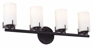 Feiss VS39004-ORB Kenton Oil Rubbed Bronze Finish 26  Wide 4 Light Bath Lighting Fixture