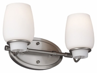 Feiss VS40002-BS Colby Brushed Steel Finish 13.75 Wide 2 Light Bathroom Light Fixture