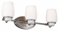 Feiss VS40003-BS Colby Brushed Steel Finish 7.375 Tall 3 Light Bathroom Sconce