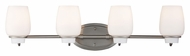 Feiss VS40004-BS Colby Brushed Steel Finish 29.75  Wide 4 Light Vanity Lighting Fixture