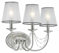 Feiss VS42003-BS Aveline Traditional Brushed Steel Finish 13.5 Tall 3 Light Bath Wall Sconce