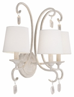 Feiss VS45003-CHKW Caprice Traditional Chalk Washed Finish 17.75 Tall 3 Light Lighting For Bathroom