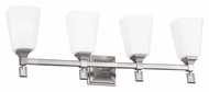 Feiss VS47004-BS Sophie Brushed Steel Finish 30.75  Wide 4 Light Bathroom Vanity Lighting