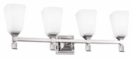 Feiss VS47004-PN Sophie Polished Nickel Finish 9.5  Tall 4 Light Bathroom Vanity Light