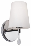 Feiss VS53001-CH Monica Chrome Finish 5.375  Wide Lighting Wall Sconce