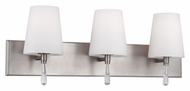Feiss VS53003-CH Monica Chrome Finish 25  Wide 3 Light Bathroom Lighting