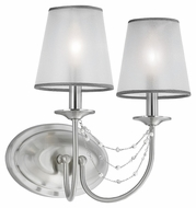 Feiss WB1716BS Aveline Brushed Steel Finish 13.5 Tall Wall Sconce Light