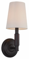 Feiss WB1717ORB Lismore Oil Rubbed Bronze Finish 5.5  Wide Wall Sconce