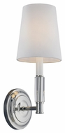 Feiss WB1717PN Lismore Polished Nickel Finish 13.875  Tall Wall Lamp