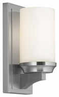 Feiss WB1722BS Amalia Brushed Steel Finish 4.5  Wide Lamp Sconce