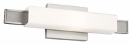 Feiss WB1731BS Talia Modern Brushed Steel Finish 16.75  Wide Bathroom Light