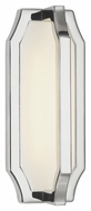 Feiss WB1741PN Audrie Contemporary Polished Nickel Finish 12.125  Tall LED Wall Lighting Sconce