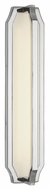 Feiss WB1742PN Audrie Contemporary Polished Nickel Finish 22.125  Tall LED Wall Mounted Lamp