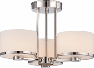 Nuvo 60-5477 Celine Polished Nickel Halogen Semi-Flush Flush Lighting