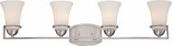 Nuvo 60-5484 Neval Brushed Nickel 4-Light Bathroom Light Fixture