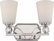 Nuvo 60-5492 Connie Polished Nickel 2-Light Bathroom Vanity Lighting